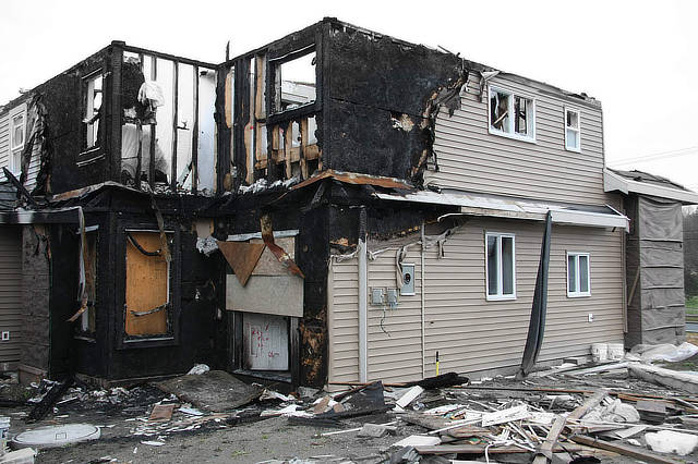 Fire damage restoration - Hercules Construction LLC