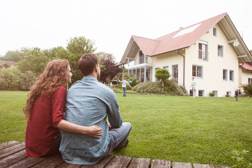 Couple exploring home buying options