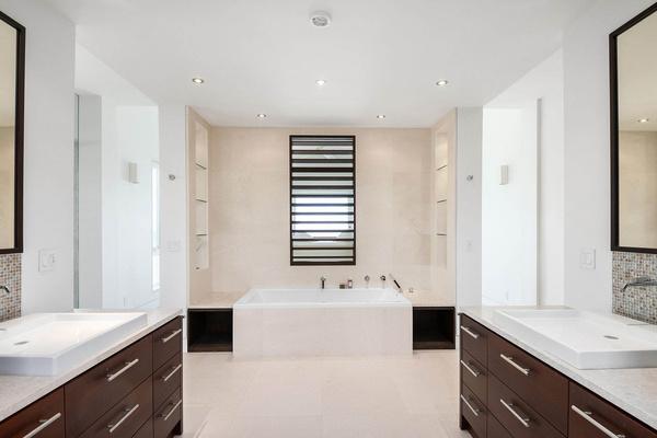 contemporary style bathroom remodel