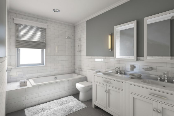 traditional style bathroom remodel