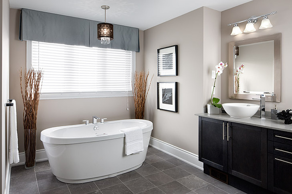 transitional style bathroom remodel